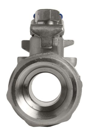 Two piece valve end