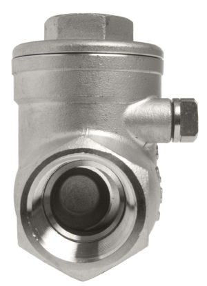 SS swing check valve end