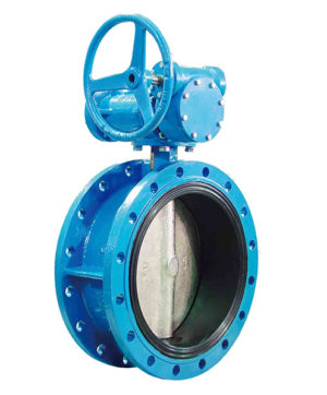Gear box manual flange butterfly valve