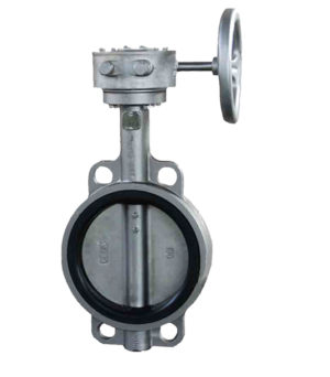 Gear box manual wafer butterfly valve