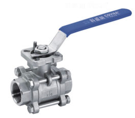 3-piece stainless steel full port ball valve is designed for use with water, air, oil, and other media compatible with the materials of construction. 3-piece swing out design for easy maintenance and long cycle life.
